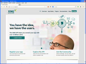 The XING Developer Page