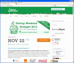 StartUp Weekend Stuttgart 2013