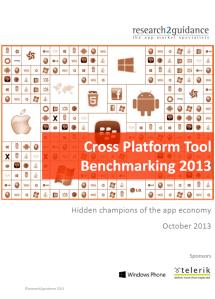 Cross Platform Tool Benchmarking 2013