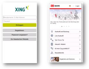 Mobile HTML Web-Anwendungen von XING und DB AG
