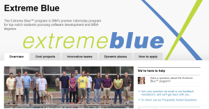 Extreme Blue - Sommerpraktika bei IBM