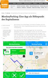 MonkeyParking - Artikel auf Mobile Zeitgeist