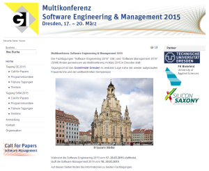 Software Engineering und Management 2015 in Dresden