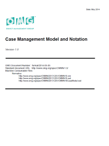 CMMN (Case Management Model and Notation) Spezifikation V1.0