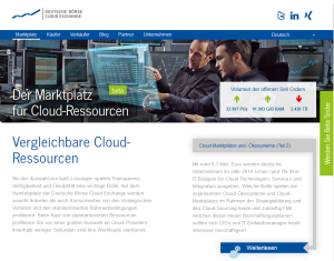 Deutsche Börse Cloud Exchange - Cloud Ressourcen flexibel handeln