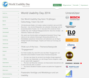 World Usability Day 2014 in Stuttgart