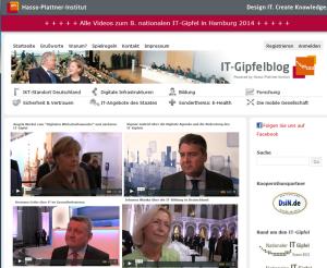 Der IT-Gipfel 2014 auf dem Gipfelblog des HPI