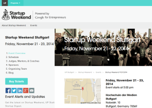 StartUp Weekend Stuttgart 2014
