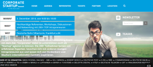 Corporate StartUp Summit 2014 in Frankfurt