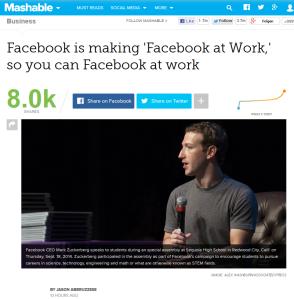Facebook at Work: Facebook im Unternehmen