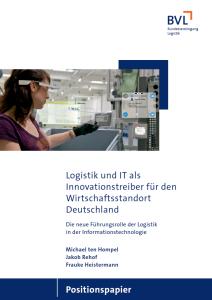 Positionspapier der BVL: Logistik und IT als Innovationstreiber für den Wirtschaftsstandort Deutschland