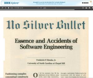 No Silver Bullet - Interessanter historischer Artikel