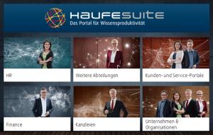 Beispiel für eine Wissensmanagement-Plattform mit Fachdatenbanken: Die Haufe Suite