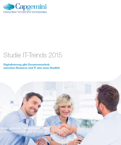 IT-Trends 2015 - Studie von Capgemini