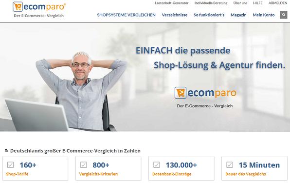 ecomparo: Shop-Systeme vergleichen und auswählen