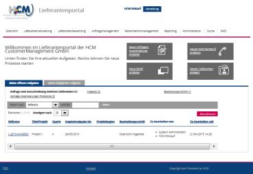 Flexible workflow-basierte Lösungen von HCM: Beispiel Lieferantenmanagement