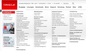 Das umfangreiche Produktangebot von Oracle