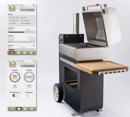 Hightech-Grill mit App-Steuerung: Bob Grillson 2015 Premium