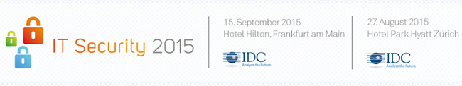 IDC Security Conference 2015 in Frankfurt und Zürich