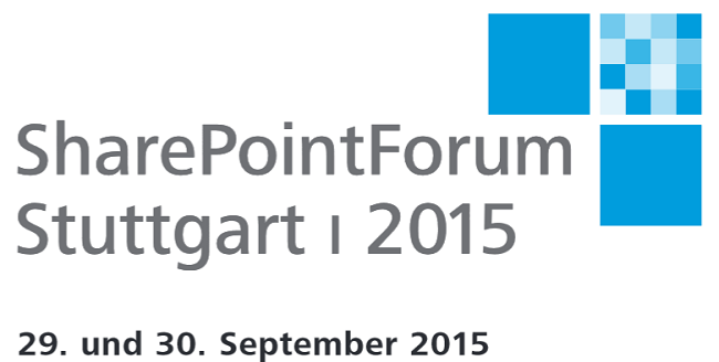 SharePoint Forum Stuttgart 2015 am 29. und 30. September 2015