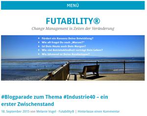Blogparade zum Thema Industrie 4.0 - Zwischenstand