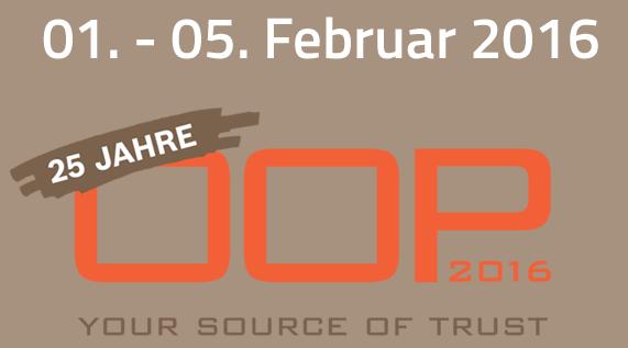 OOP 2016 - vom 1. - 5. Februar 2016 in München