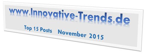 Top 15 Posts im November 2015 auf Innovative Trends