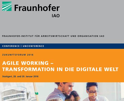 Zukunftsforum 2016 des Fraunhofer IAO in Stuttgart