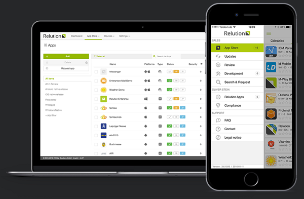 Relution - Enterprise Mobility Management Suite von M-Way