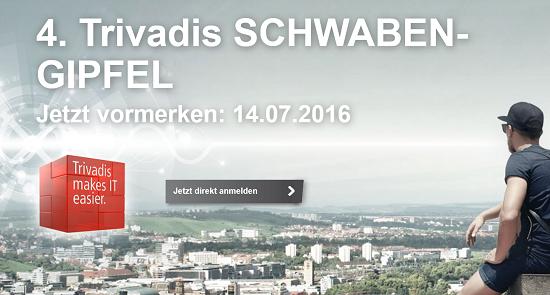 4. Trivadis Schwabengipfel 2016 am 14.7. in Leinfelden bei Stuttgart