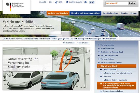 BMVI Forschungsprogramm Automatisierung und Vernetzung im Straßenverkehr