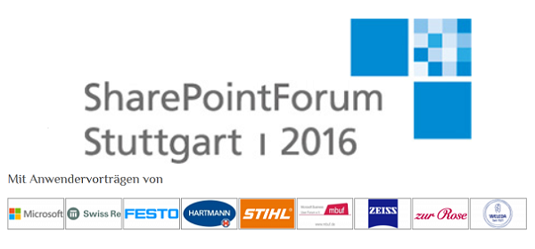 SharePoint Forum Stuttgart 2016