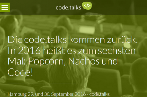 code.talks 2016 in Hamburg