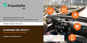Forum Future Car 2016 am Fraunhofer IAO