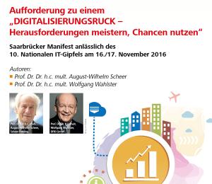 Saarbrücker Manifest: Digitalisierungsruck notwendig