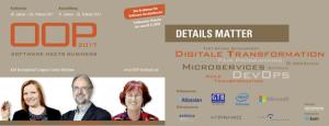OOP 2017 - Die Konferenz für Software-Architekten in München