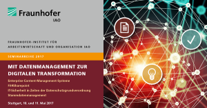 IAO Seminare: Mit Datenmanagement zur Digitalen Transformation