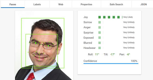 Google Cloud Vision API: Face Detection
