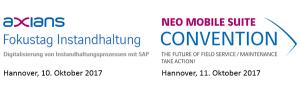 Digitalisierung von Instandhaltungsprozessen mit SAP: Events am 10.+11.10. in Hannover
