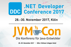 .NET Developer Conference 2017 und JVMCon 2017 in Köln
