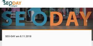 SEO-Day 2018 am 8.11. in Köln