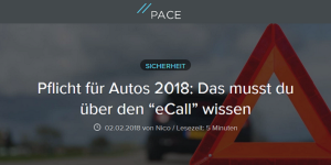 eCall ab 1.4.2018 Pflicht